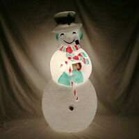 """Union Products Frosty The Snowman Blow Mold 40"""" Dimpled Lighted Vintage"""