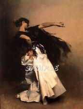 SPANISH DANCER FLAMENCO COSTUME DANCE ENTERTAINER  vintage canvas art print
