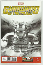 Guardians of the Galaxy #7 Castellani 1:100 Lego Iron Man Sketch Variant Marvel