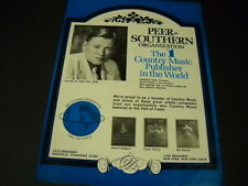 Peer Southern 1972 Promo Ad Jimmie Rodgers Carter Family Bill Monroe mint cond