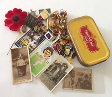 Erinmore Flake Tobacco Tin Cigarette Cards Mixed Poppy Pin Badge Lot Rare (B59)
