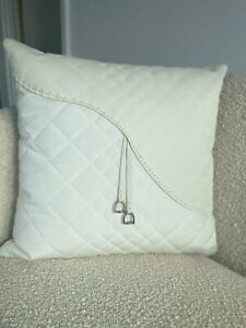 Large decorative pillow FENDI original brand. Leather and fabric combined.Luxury