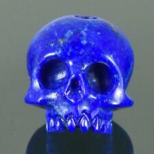 Lapis Lazuli Human Skull Bead Natural Blue Afghanistan 10.84 mm Carving 1.91 g