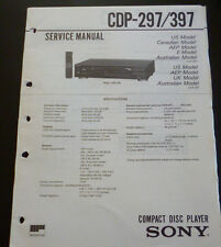 Original Service Manual  Sony CDP-297 / 397