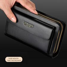 Womens PU Leather Clutch Ladies Long Wallet Checkbook Card ID Holder Handbag