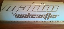 Large Malibu Wakesetter decal in Premium Chrome Vinyl 22 inch sticker