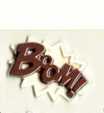 Boom Superhero Chocolate Candy Mold  Comic Word Emblem