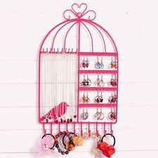 Birdcage Wall Mounted Jewellery Storage Organiser Necklace Bracelet Earrings New