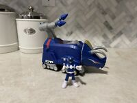 Imaginext Power Rangers Blue Ranger & Triceratops Zord with Missiles X