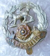 Badge- Hampshire Regiment Cap Badge (Bi-Metal, Genuine*)