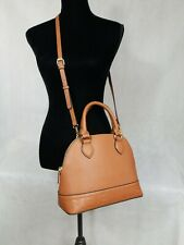 Steve Madden Brown Dome Satchel Handbag Purse with ID / Credit Card Case