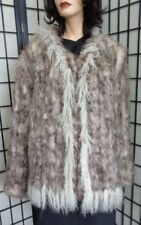 New Knitted Opossum Opposum Fur Jacket Coat Women Woman Size 8-10 Medium