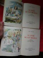 Lot 2 livres Axel MUNTHE/LE LIVRE DE SAN MICHELE/N 202/illus G BARRET/1947