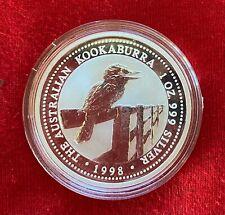 1998  Australian KOOKABURRA 1oz Silver coin BU (in capsule)
