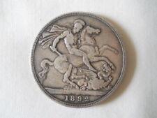 1892 Victoria Silver Crown British Coins
