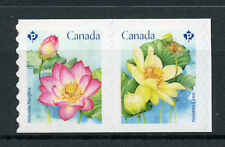 Canada 2018 MNH Lotus Flower 2v S/A Coil Set Flowers Nature Stamps