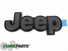 2014-2017 Jeep Cherokee JEEP Emblem Nameplate Black & Graphite Gray OEM MOPAR