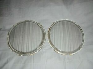 VINTAGE LUCAS/BUTLERS HEADLAMP GLASS LENSES- NUFFIELD TRACTORS & LAND ROVER 80""