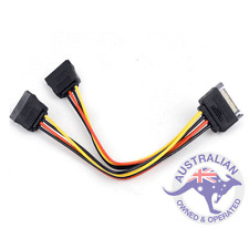 1 x SATA Power T/Y Splitter Extension Cable Adapter (049)