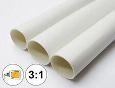 "(1 FOOT) 3/16"" White Heat Shrink Tube 3:1 Dual Wall Adhesive Glue Line Marine"