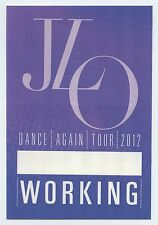 JENNIFER LOPEZ - Dance Again Tour 2012 Unused Stage Working CREW Pass - J LO JLO