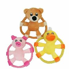 Dogs Puppy Animal Flying Discs Pet Dog Toy Rope Ring