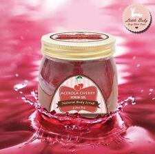 200g Acerola Cherry Scrub Gel Whitening Skin Smooth & Soft Reduces Dark Circles