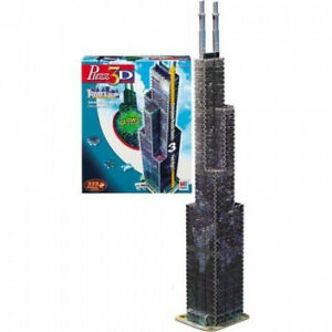 Puzzle 3D Sears Tower. Hasbro. Free Shipping