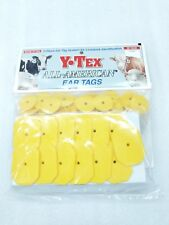 Y-Tex Swine Star 2-Piece Livestock Ear Tags Pig Hog 25 Pack Yellow 5713-000