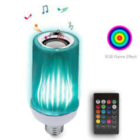 3in1 Smart RGB led Flame Music Light Bulb with Bluetooth Speake Color Change