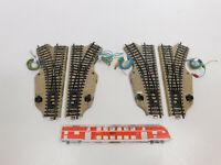 CN822-1# 4x Märklin H0/AC E-Weiche (M-Gleis) geprüft: 5118 + 5119, gebraucht