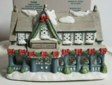 Partylite Candle Holder House Candle Shop Porcelain Tealight P0266 with Box