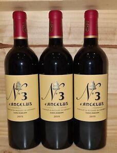 Lot de 3 bouteilles No 3 d'Angélus de Château Angélus 2019  (3ème vin)