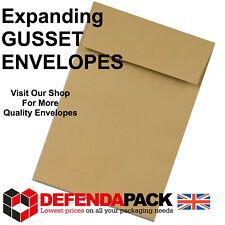 More details for c6 c5 c4 c3 gusset expanding postal posting peel & seal manilla paper envelopes