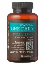 2 Amazon Elements Women's 40+ One Daily Multivitamin 66% Whole Food Cultured