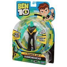 Ben 10 Deluxe Power up Figures X3 - Heatblast Diamondhead Four Arms