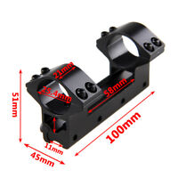 """1"""" inch 25.4mm Dual Ring Rifle Scope Mount For 11mm Dovetail Rail High Profile"""
