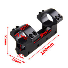"""1"""" Ring 25.4mm One Piece Dual Rifle Scope Mount For 11mm Picatinny Weaver Rail"""