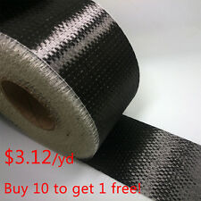 "12k Real Carbon Fiber Fabric Toray T700 Unidirectional Cloth Tap 4"" wide 300gsm"