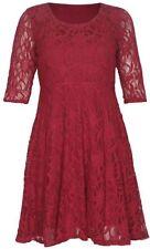 Vestiti da donna maniche a 3/4 rosso con girocollo