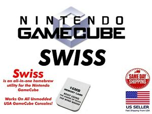 +SWISS GameCube Memory Card Only Booting SWISS SD Loader SD2SP2 Plug and Play