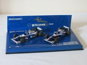 D. HILL & J. VILLENEUVE Williams WORLD CHAMPION SET 1996 & 1997 Minichamps 1:43
