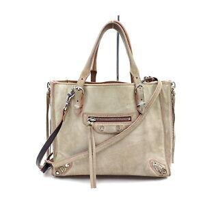 Balenciaga Tote Bag  Brown Suede Leather 2411875