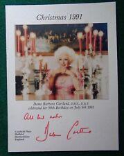 Antique Signed Christmas Card Princess Diana Grandmother Author Barbara Cartland