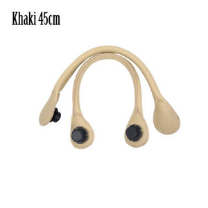 New 1 pair Short Long round Pu Faux Leather Handle for Obag Classic Mini O Bag