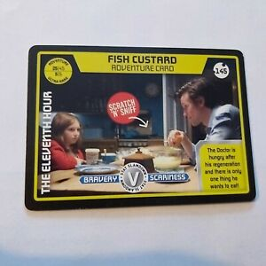 Ultra Rare Monster Invasion Card Fish Custard 11th Doctor Who Scratch 'n' Sniff