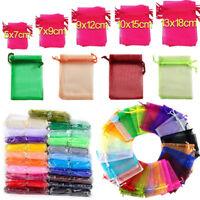 25/100Pcs Organza Wedding Party Favor Decor Gift Candy Sheer Bags Pouches