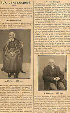 MME BOULON MORTAIN VILLARIES JEAN DELCAYRE CENTENAIRES ARTICLE DE PRESSE 1904
