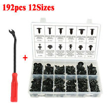 192pc Car Body Retainer Push Pin Rivet Clip Moulding Trim Panel Assortmet + Tool