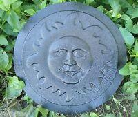 Plastic Sun plaque mold concrete plaster casting garden mould